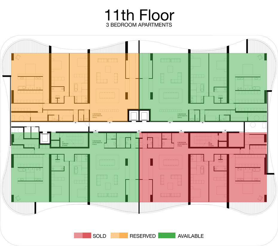 LorenzoBySujimoto Luxury Apartments - Floor plan - 11th Floor