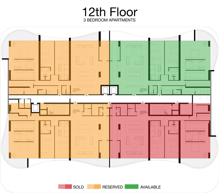 LorenzoBySujimoto Luxury Apartments - Floor plan - 12th Floor