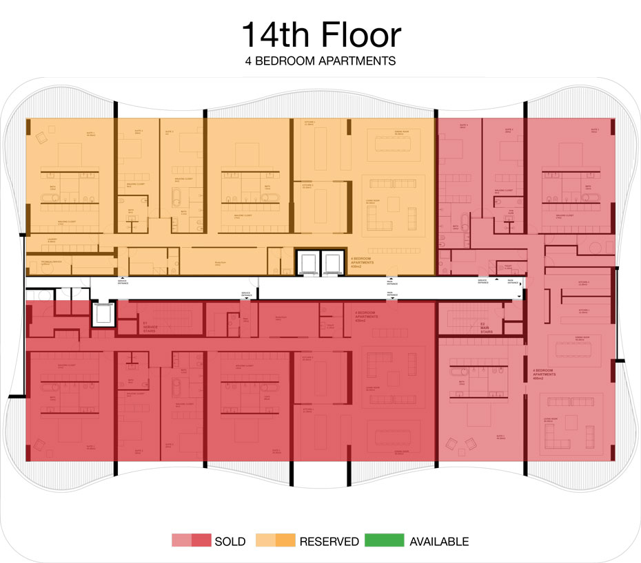 LorenzoBySujimoto Luxury Apartments - Floor plan - 14th Floor