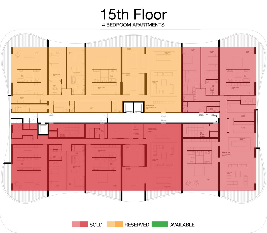 LorenzoBySujimoto Luxury Apartments - Floor plan - 15th Floor