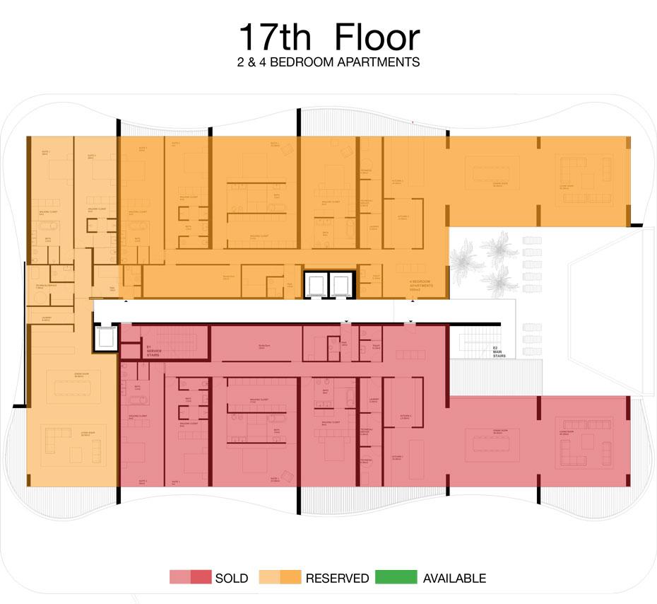 LorenzoBySujimoto Luxury Apartments - Floor plan - 17th Floor