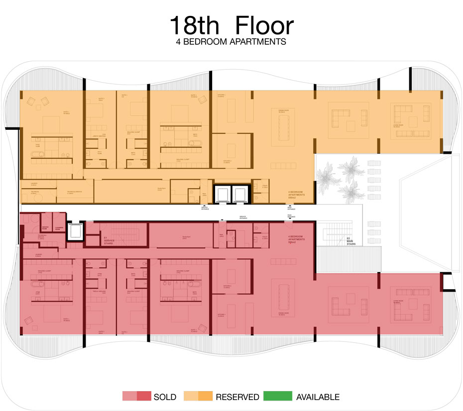 LorenzoBySujimoto Luxury Apartments - Floor plan - 18th Floor