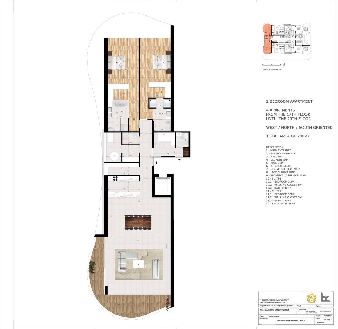 LorenzoBySujimoto Luxury Apartments 2BEDROOM_TYPE-C