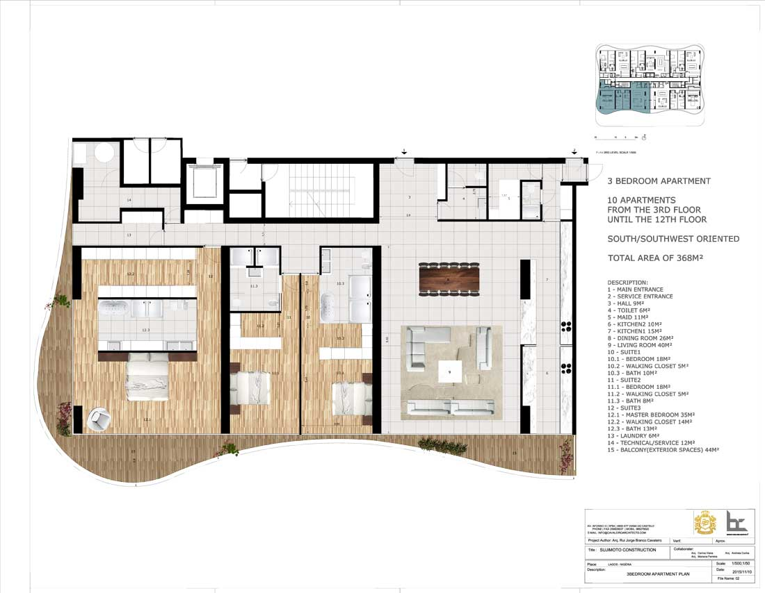 LorenzoBySujimoto Luxury Apartments 3BEDROOM_TYPE-A