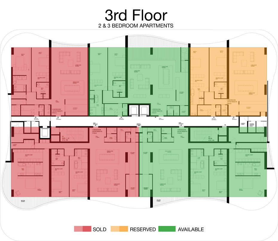 LorenzoBySujimoto Luxury Apartments - Floor plan - 3rd Floor
