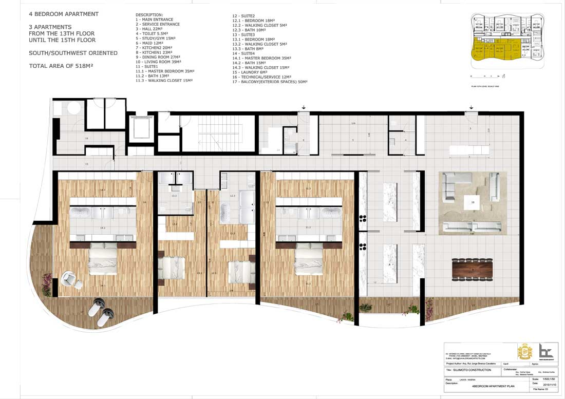 LorenzoBySujimoto Luxury Apartments 4BEDROOM_TYPE-A