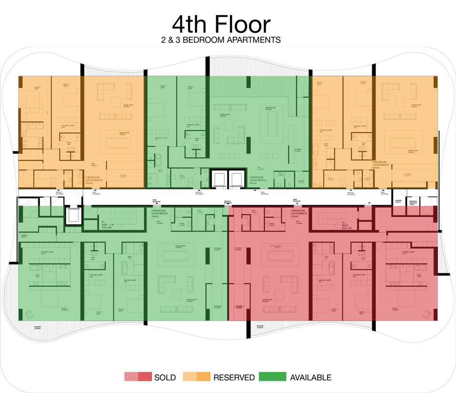 LorenzoBySujimoto Luxury Apartments - Floor plan - 4th Floor