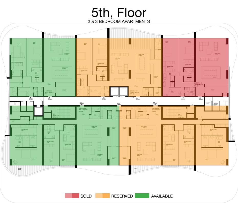 LorenzoBySujimoto Luxury Apartments - Floor plan - 5th Floor