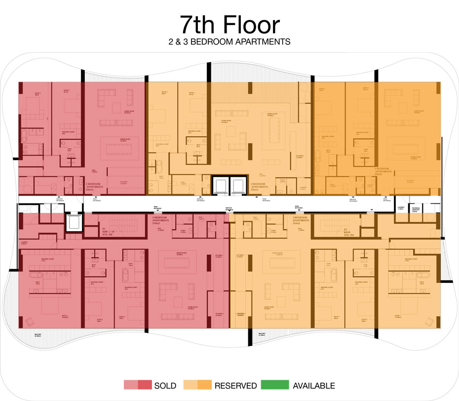 LorenzoBySujimoto Luxury Apartments - Floor plan - 7th Floor